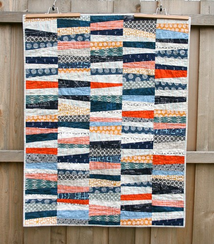 Wonky Stipes Baby Quilt