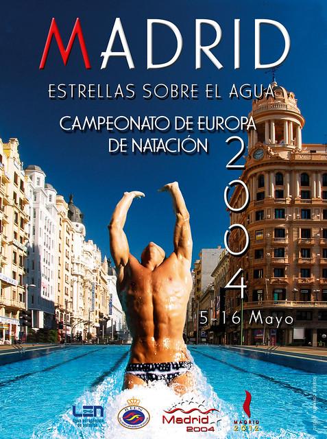 Cartel oficial de los Campeonatos de Europa de Natación 2004