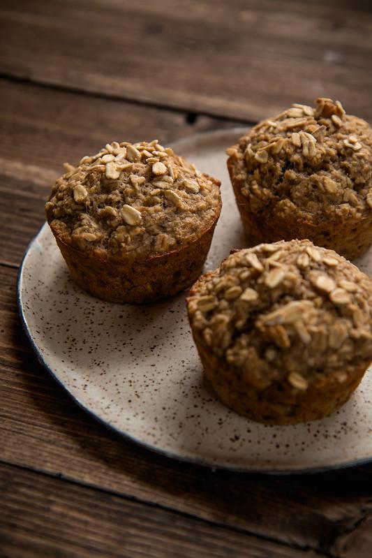 Banana Oat Breakfast Muffins {Vegan, Gluten Free, Refined Sugar Free}
