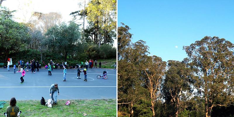 Golden Gate Skate Park at Sunset