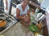 Graciela, making tortillas for breakfast