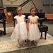 Elaine and Stella after their piano duet performance