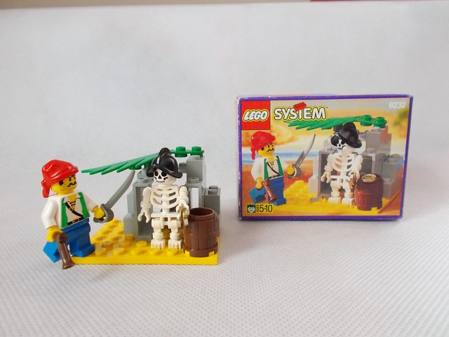 Lego set 6232 piratas Skeleton Crew con ba set w instruction