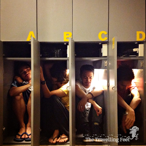 Huge Lockers at Z Hostel in Makati