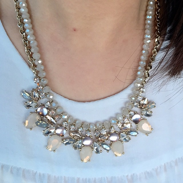 Newest #bauble from @loft - Neutral rondelle chain #necklace.  @liketoknow.it www.liketk.it/ZEXC #liketkit #statementnecklace #loveLOFT #liveloveloft #loftgirl #newarrivals #loveit