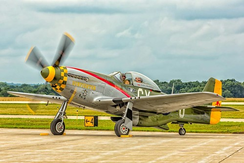 A downside to shooting digital occurs when culling through so many files and overlooking a potential keeper. This P-51 Mustang capture sat overlooked in a folder until last night.