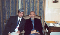 Adib Farhadi and President Hamid Karzai