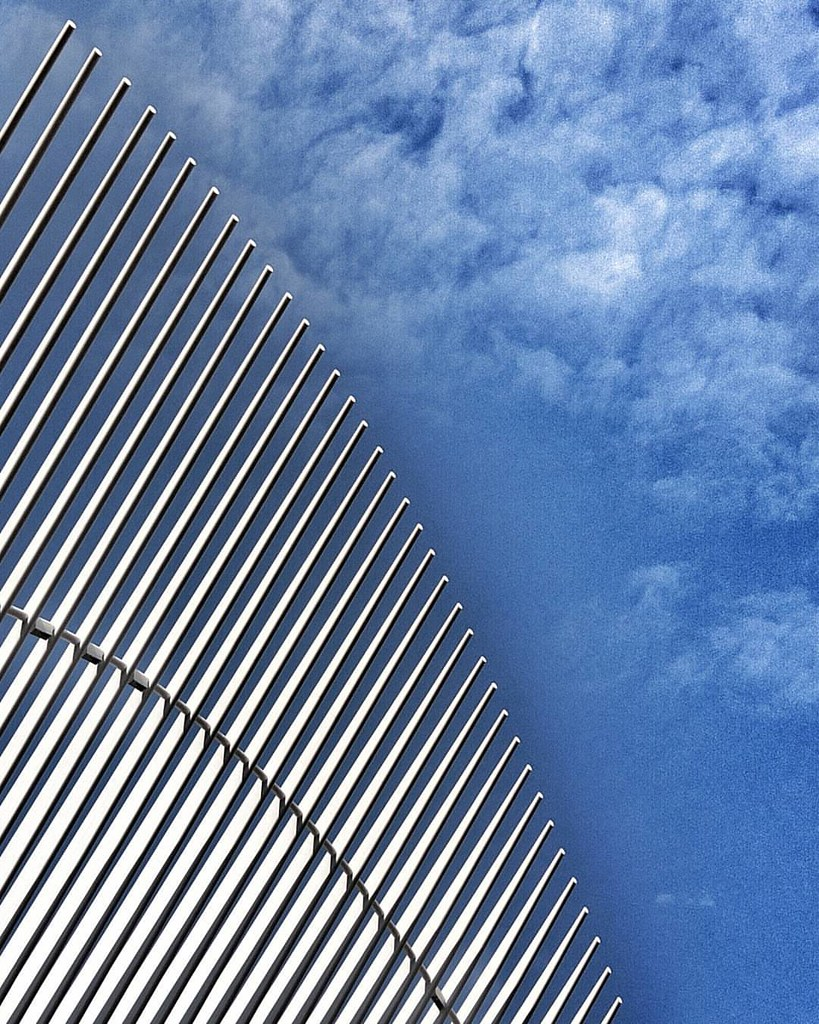 White Lines over a Blue Sky  #nyc #Newyork #newyorkcity #newyorkcitylife #manhattan #city  #travelgram #Travel #trip #Photo #photography #architecture #archilovers #modern #iloveny #ilovenyc #newyorkphoto #instacool #instanewyork #mynyc #bigapple #minimal