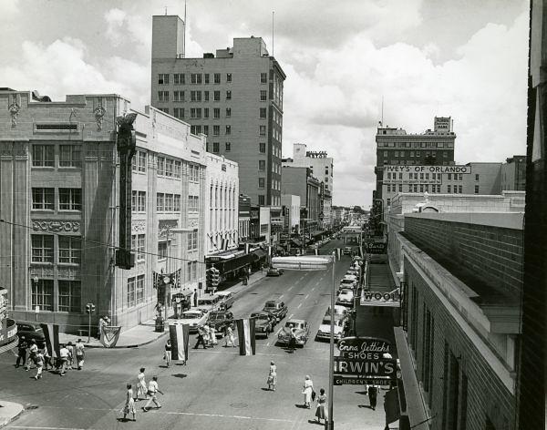 Looking north along Orange Avenue in downtown Orlando