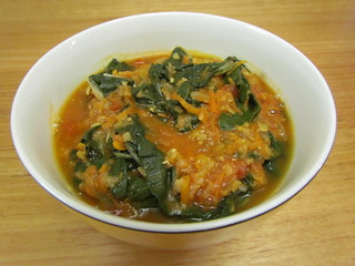 Chard and Red Lentil Soup