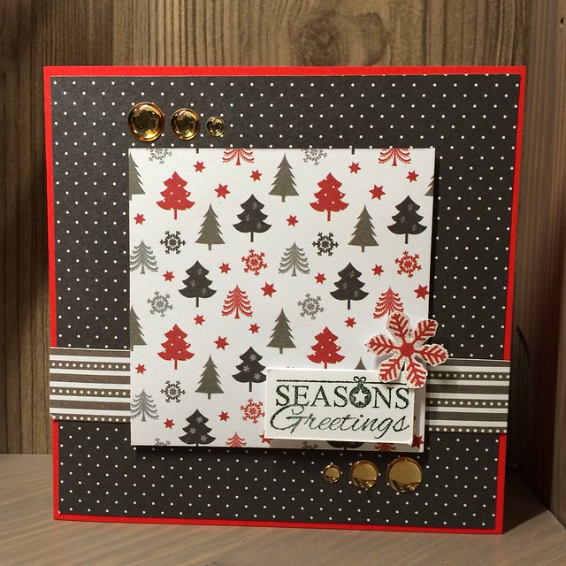 Christmas crafting - Male Christmas card