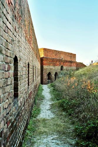 unitedstates florida fort bricks moat fernandinabeach clearsky fortclinchstatepark
