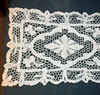 Vintage Hand-crocheted lace table runner