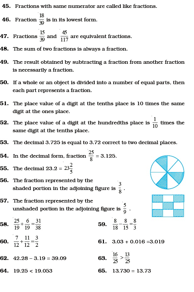 Class 6 Important Questions for Maths – Fractions and Decimals ...