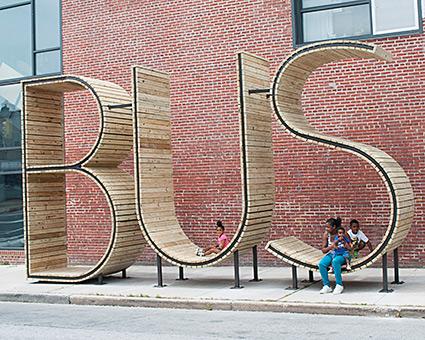BUS stop Baltimore