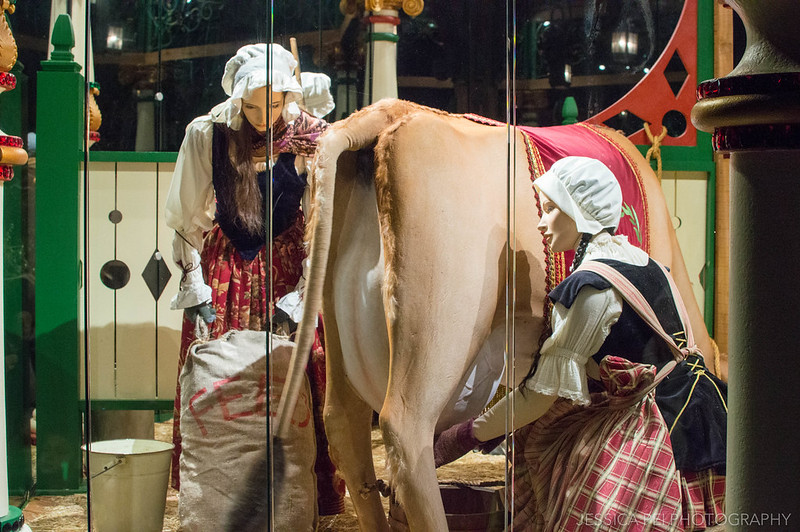 8 Maids Milking in 12 Days of Christmas at Dallas Arboretum Botanical Gardens