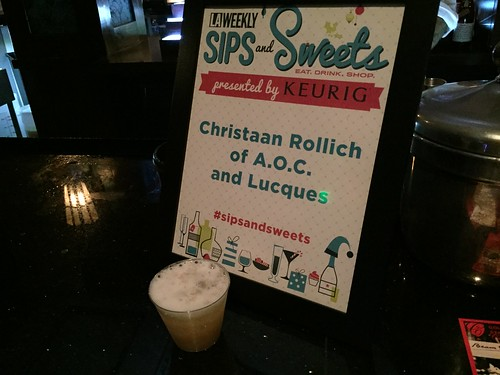 Christiaan Rollich at LA Weekly Sips and Sweets
