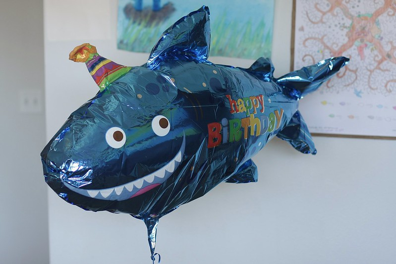 shark birthday balloon