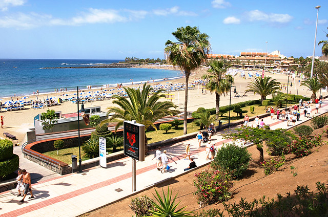 Playa de las Vistas promenade, Los Cristianos, Tenerife