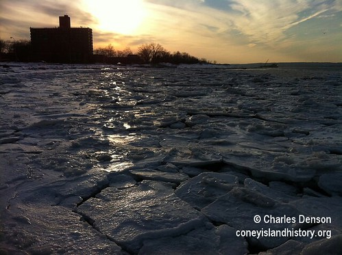 Sunset at Frozen Coney Island Creek