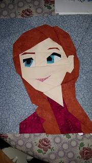 Anna. Frozen. Paper Piecing. Fandom in stitches.