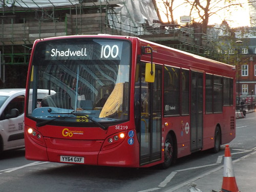 Brand new - Go-Ahead London General SE219, YY64GXF at Aldgate on route 100 to Shadwell