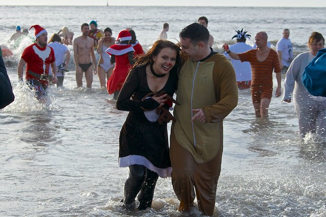 Porthcawl Christmas Swim 2014 20141225_127