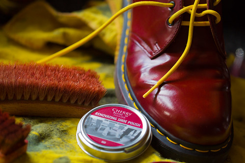 Nice & Shiny - Cherry Red Dr Martens