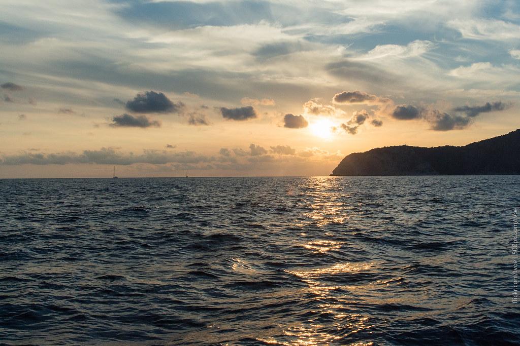 Закат у берегов Ибицы