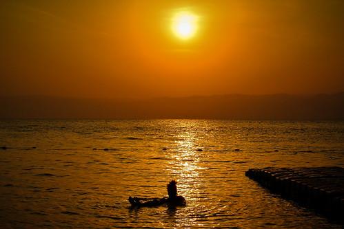 sunset swim sonnenuntergang schwimmen jordan kati deadsea jordanien 2014 madaba totemeer nikon1v1