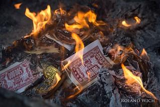 Hanoi - Burning Fake Bills