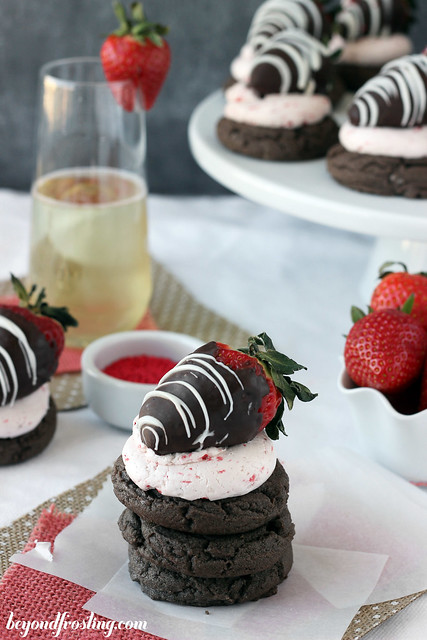 Chocolate Covered Strawberry Cake Mix Cookies