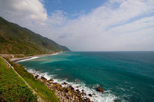 ocean sea asia eau pacific cost taiwan asie moutain deepblue turquise pacifique eastcost eyespix taiwanprovince fengbintownship