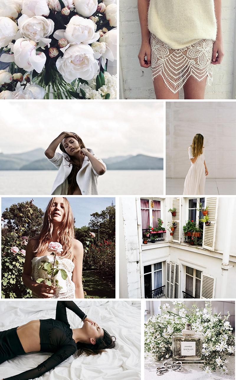 Stolen Inspiration, Kendra Alexandra | February Moodboard Fashion Minimalistic Oracle Fox For Love & Lemons
