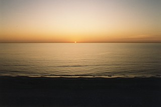 sunset on the gulf, Indian Shores, Florida Dec 1993