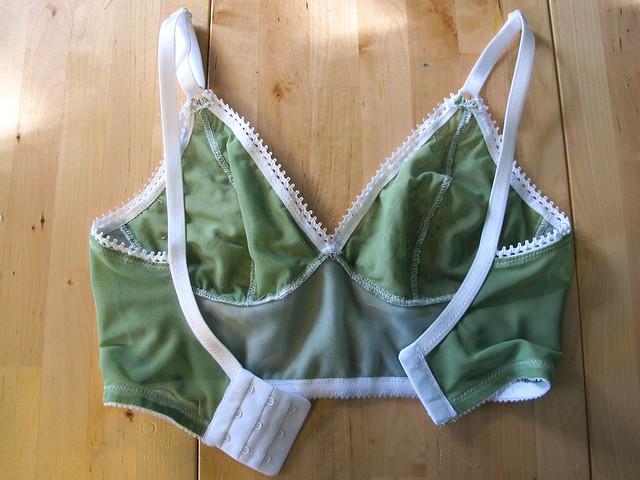 Green and White Watson Bra