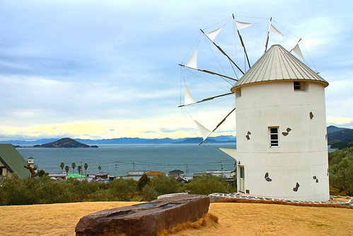 道の駅小豆島オリーブ公園 ギリシャ風車
