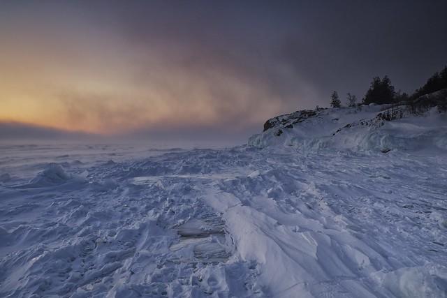 frozen whitefish bay, gros cap, ontario ll