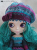 Multi-color beret for Blythe by arianna frasca