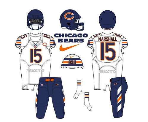 Chicago Bears Away Uniform Concept
