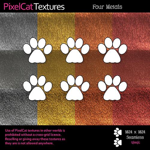 PixelCat Textures - Four Metals