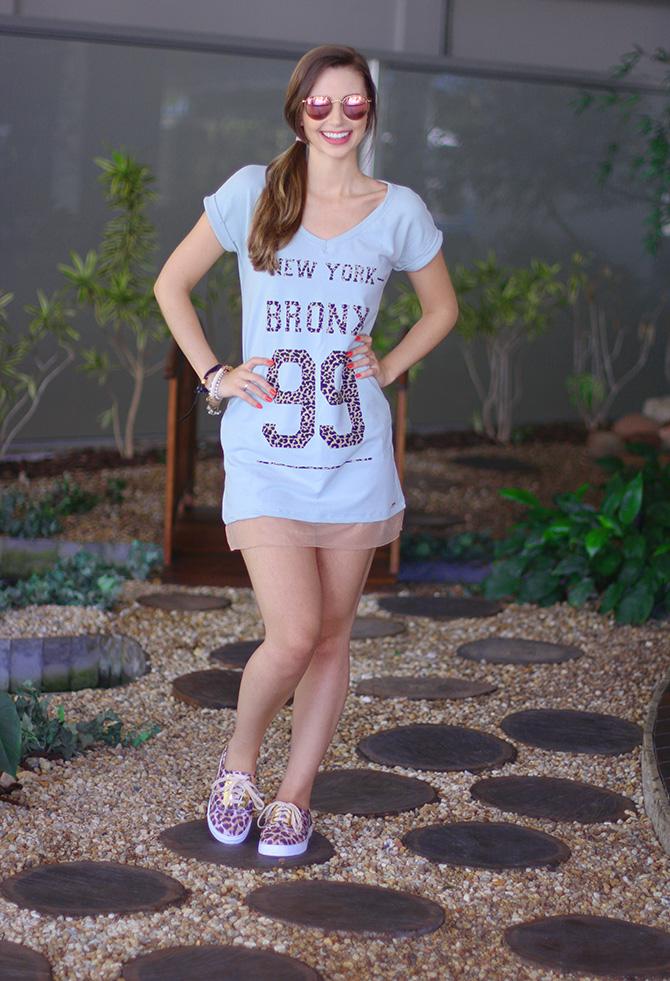 01-look do dia vestido e tenis de oncinha la mandinne e blog sempre glamour