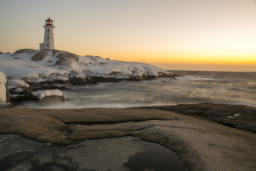 Peggys Cove Sunset - March 7, 2015