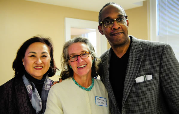 Dr. Miyong Kim, Dr. Melissa C. Smith and Ashton Cumberbatch