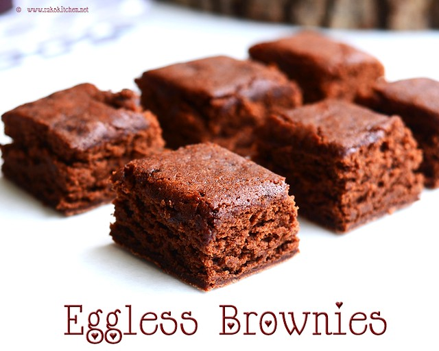 Eggless Brownie recipe | Eggless brownies - Raks Kitchen