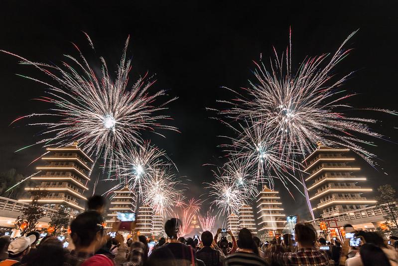 佛陀紀念館新年煙火