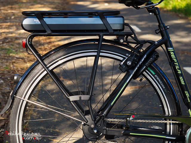 """Gepida Reptila equipped with Shimano STEPS • <a style=""""font-size:0.8em;"""" href=""""http://www.flickr.com/photos/ebikereviews/16711728136/"""" target=""""_blank"""">View on Flickr</a>"""