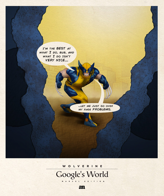Wolverine 'Google's World - Marvel Edition'