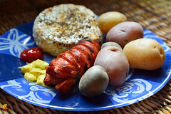 Knackwurst & Camembert Cheese - On the Plate (…