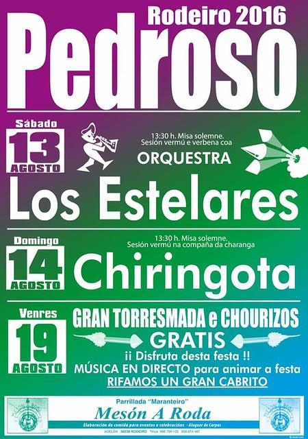 Rodeiro 2016 - Festas de Pedroso - cartel